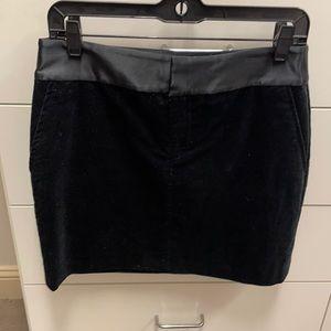 Martin & Osa Black velvet mini skirt